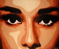 Взгляд Одри Хепберн 2008г 100х120 хм кат 02.08.85